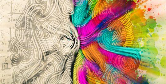 Eine abstrakte Zeichnung von Gehirnwindungen.